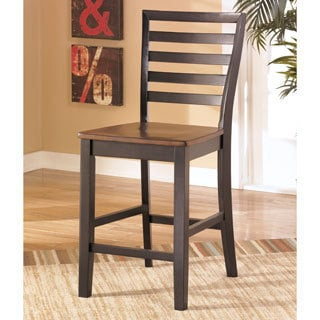 Signature Design by Ashley 'Alonzo' Two-tone Brown Bar Stool (Set of 2)