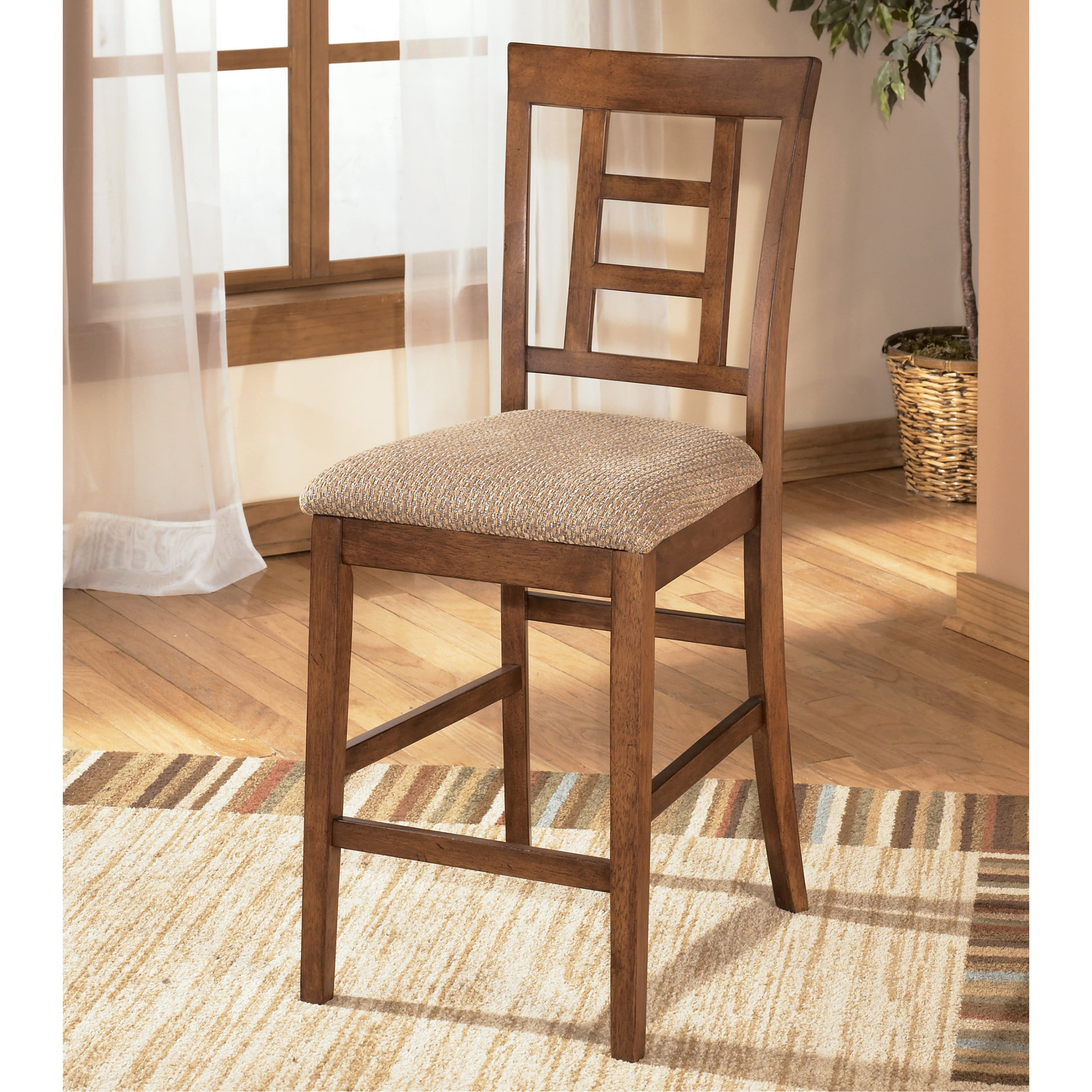 Signature Design by Ashley 'Cross Island' Upholstered Bar Stool (Set of 2) at Sears.com
