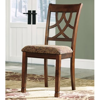 Signature Design by Ashley 'Leahlyn' Brown Cherry Upholstered Dining Chair
