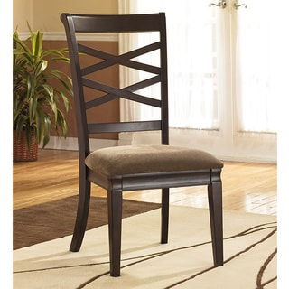 Signature Design by Ashley 'Hayley' Dark Brown Side Chair