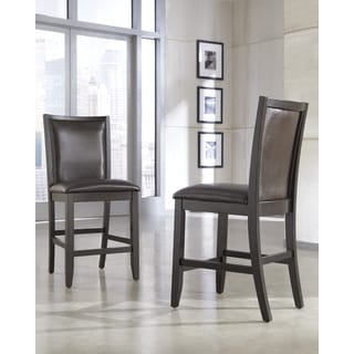 Signature Design by Ashley Trishelle Brown Upholstered Barstool (Set of 2)
