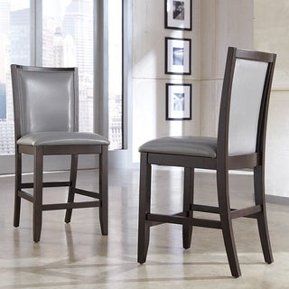 Signature Design by Ashley Trishelle Grey Upholstered Barstool (Set of 2)