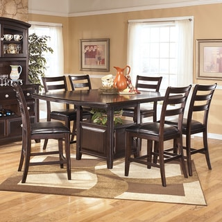 Signature Design by Ashley 'Ridgley' Square Dark Brown Dining Room Table