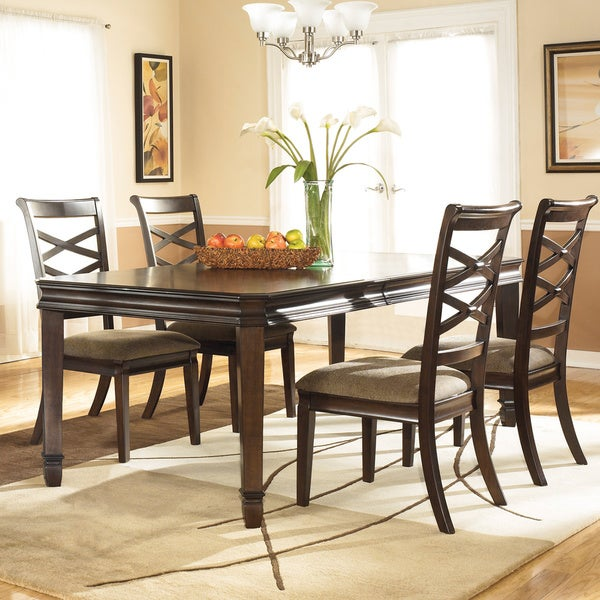 dark brown dining room extension table antique solid furniture kitchen