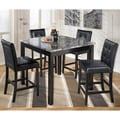 Signature Design by Ashley 'Maysville' Square Black/ Grey 5-piece Dining Room Set