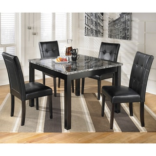 Signature Design by Ashley 'Maysville' Black/ Grey Square 5-piece Dining Room Set