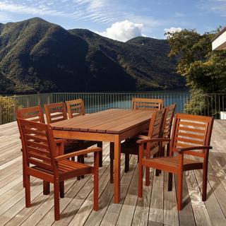 Barbara 9-piece Wood Outdoor Dining Set