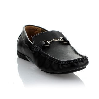 Mikoloti Men's Black Metal Accent Loafer