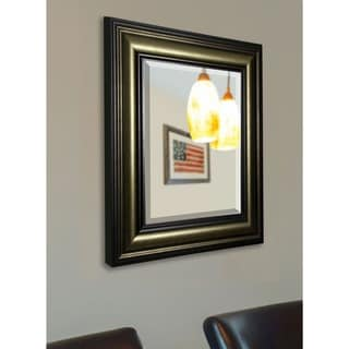 American Made Rayne Stepped Antiqued Beveled Wall Mirror