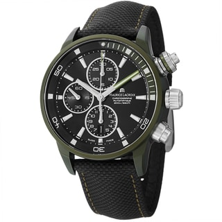 Maurice Lacriox Men's PT6028-ALB21-331 'PontosExtreme' Black Dial Nato Strap Watch