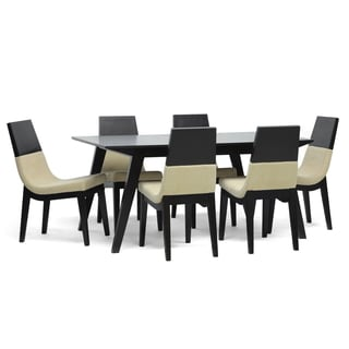 Baxton Studio 'Prezna' 7-piece Wenge Modern Dining Set with Two Bonus Dining Chairs