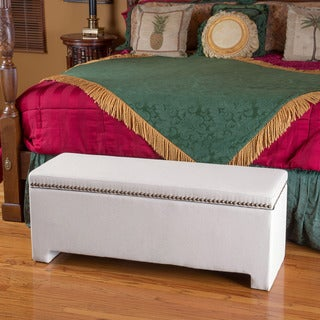 Christopher Knight Home Norfolk Ivory Storage Bench