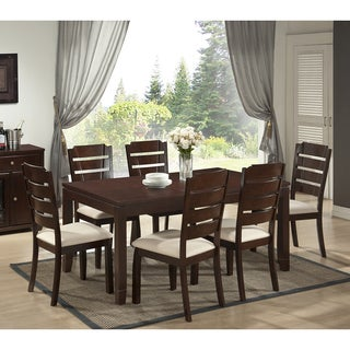 Victoria 7-piece Wood Modern Dining Set with Two Bonus Dining Chairs