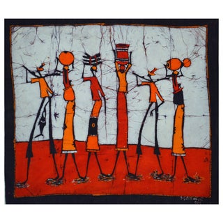 Hand-batiked 'Going Home' Wall Hanging (Mozambique)