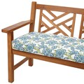Aqua Floral 60-inch Indoor/ Outdoor Corded Bench Cushion