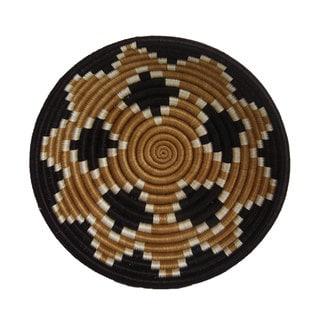 Handmade Pitter Patter Woven Basket (Rwanda)