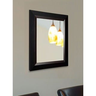 American Made Rayne Black with Brown Grain Lining Wall Mirror
