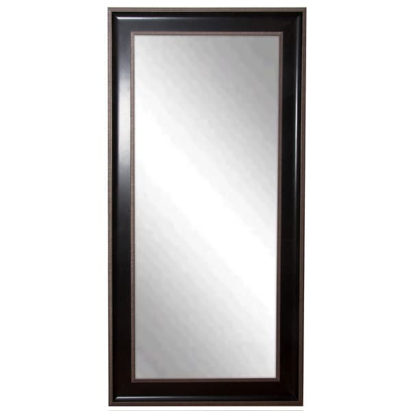 American Made Rayne Black/Silver Trim Tall Mirror
