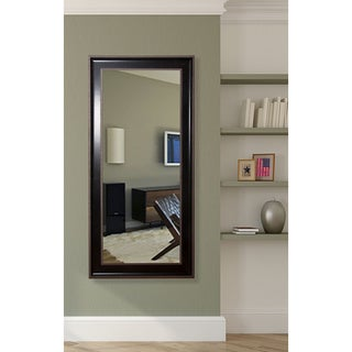American Made Rayne Black and Silver Trim Tall Mirror