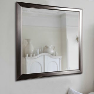 American Made Rayne Sleek Stainless Silver Wall Mirror