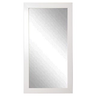 American Made Rayne Glossy White Tall Mirror