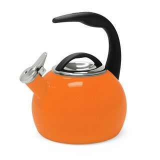 Chantal 40th Anniversary Orange 2-quart Enamel-on-Steel Tea Kettle
