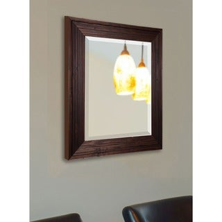 American Made Rayne Barnwood Brown Beveled Wall Mirror