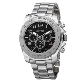 August Steiner Men's Swiss Quartz Multifunction Tachymeter Bracelet Watch