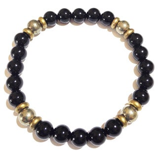 Black Tourmaline/ Pyrite Protection Bracelet
