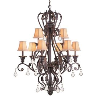 'Winslow' Dark Rust Traditional 9-light Chandelier
