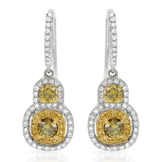 Italy by Contessa 18k Two-tone Gold 1ct TDW Diamond Earrings (H-I, SI1-SI2)