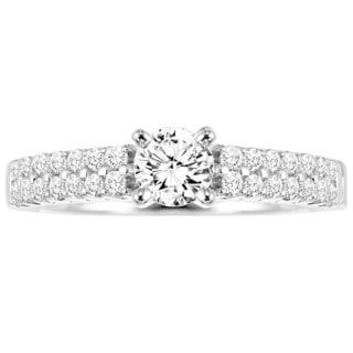 Cambridge 14k White Gold 7/8ct TDW Classic Diamond Engagement Ring (I-J, I1-I2)