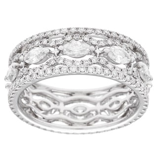 18k White Gold 2ct TDW Diamond Anniversary Band (G-H, SI2-I1)