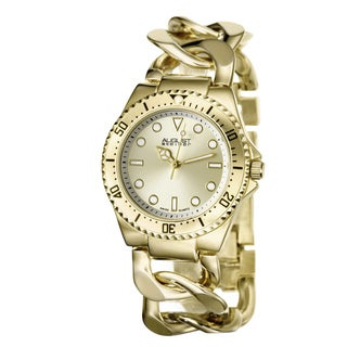 August Steiner Women's Swiss Quartz Chain Link Bracelet Watch
