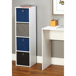 'Jolie' 4-slot Fabric Bin Bookcase