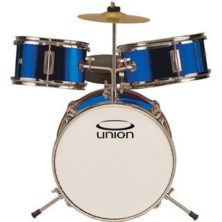 Union UT3 3-piece Metallic Blue Toy Drum Set