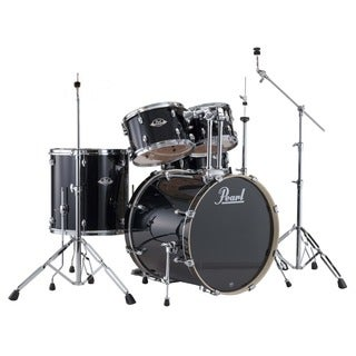 Pearl Export 5-piece Jet Black Drum Kit