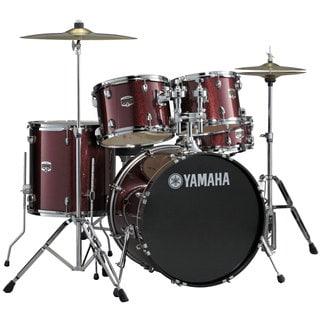 Yamaha 'Gigmaker' Standard 5-piece Burgundy Glitter Drum Set