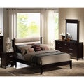 'Andrea' 5-piece Dark Mahogany Platform Bed and Bedroom Set