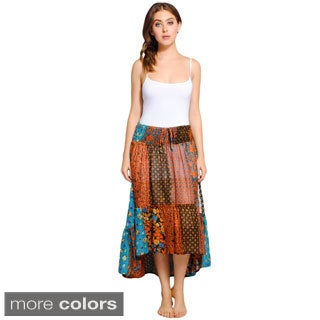 Recycled Patch Cotton Gypsy Skirt (Nepal)