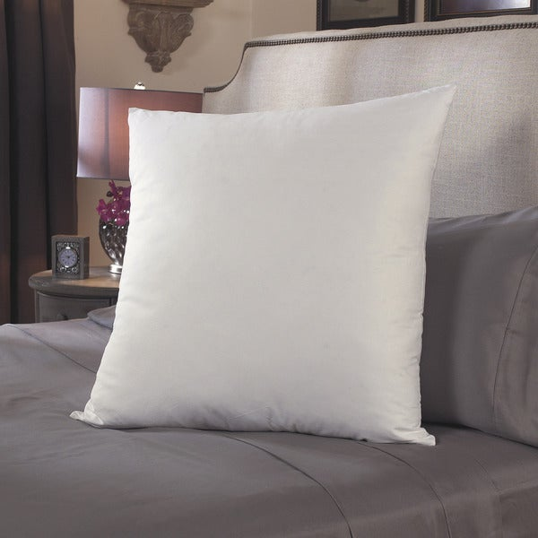 Down Alternative 26 x 26 Cotton Euro Square Pillows (Set of 2)
