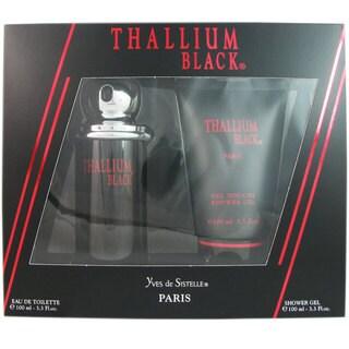 Thallium Black for Men by Yves De Sistelle 2 Pcs Set