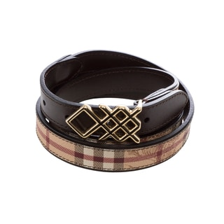 Burberry 'Pembroke' Haymarket Check Buckle Belt