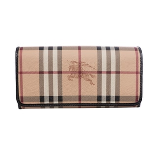 Burberry 'Penrose' Haymarket and Black Continental Wallet