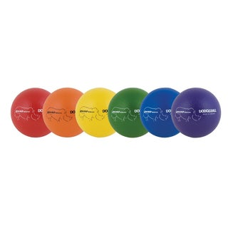 Champion Sports Rhino Skin Dodgeball Set of 6 - Purple, Blue, Red, Orange, Green, Yellow