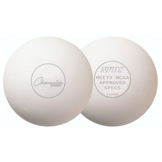 Champion Sports Official Lacrosse Balls - 12 Pack (White)