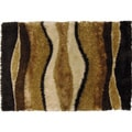 Celebration Shag Area Rug Chocolate Multi (5' x 8')