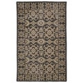 Hand-Knotted Vintage Replica Chocolate Brown Wool Rug (8'0 x 10'0)