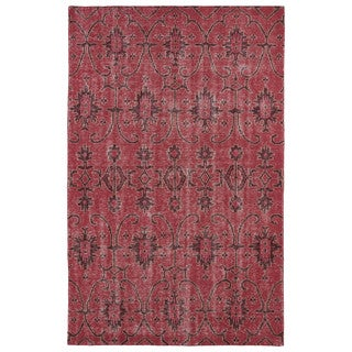 Hand-Knotted Vintage Replica Red Wool Rug (8'0 x 10'0)