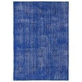 Hand-Knotted Vintage Replica Blue Wool Rug (8'0 x 10'0)